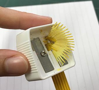 花色鉛筆 削り方