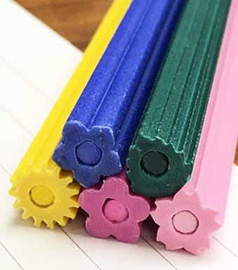 花色鉛筆 芯 花の形