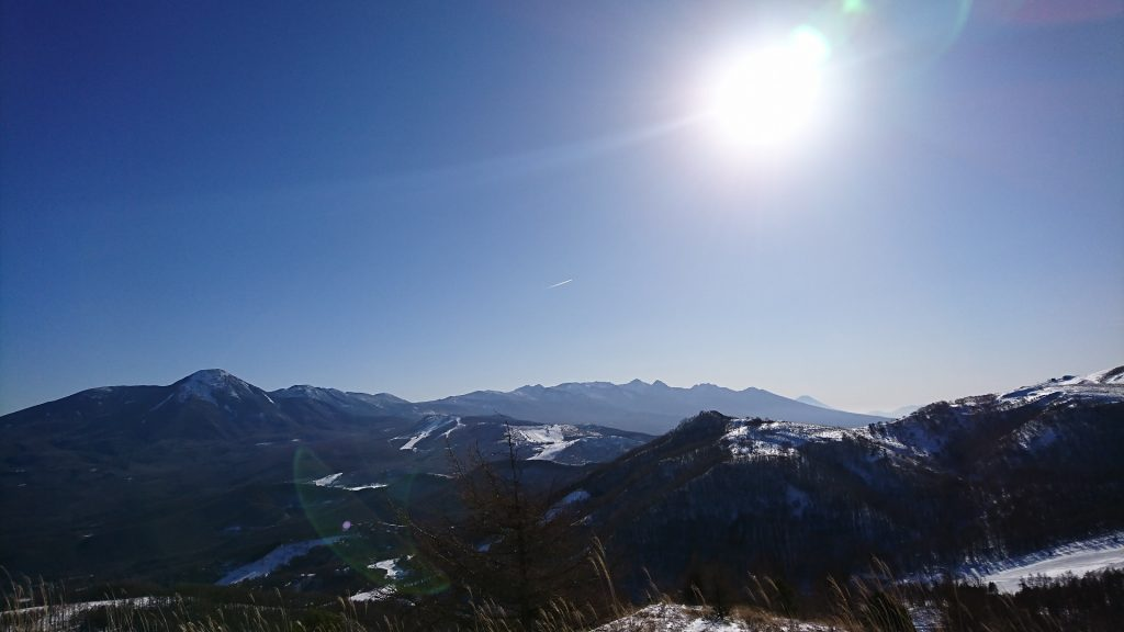 八ヶ岳と富士