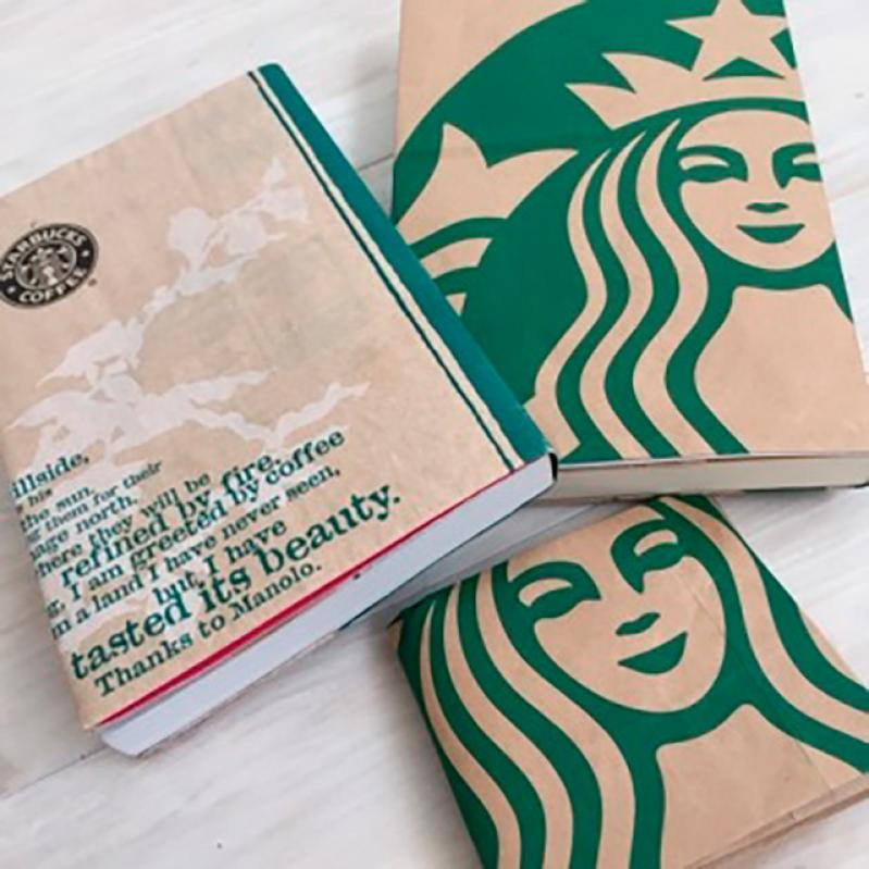 紙袋ブックカバー